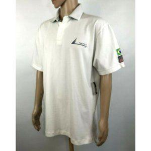 Nautica Rugby Polo Mens Sz XL Brazil Short Sleeve